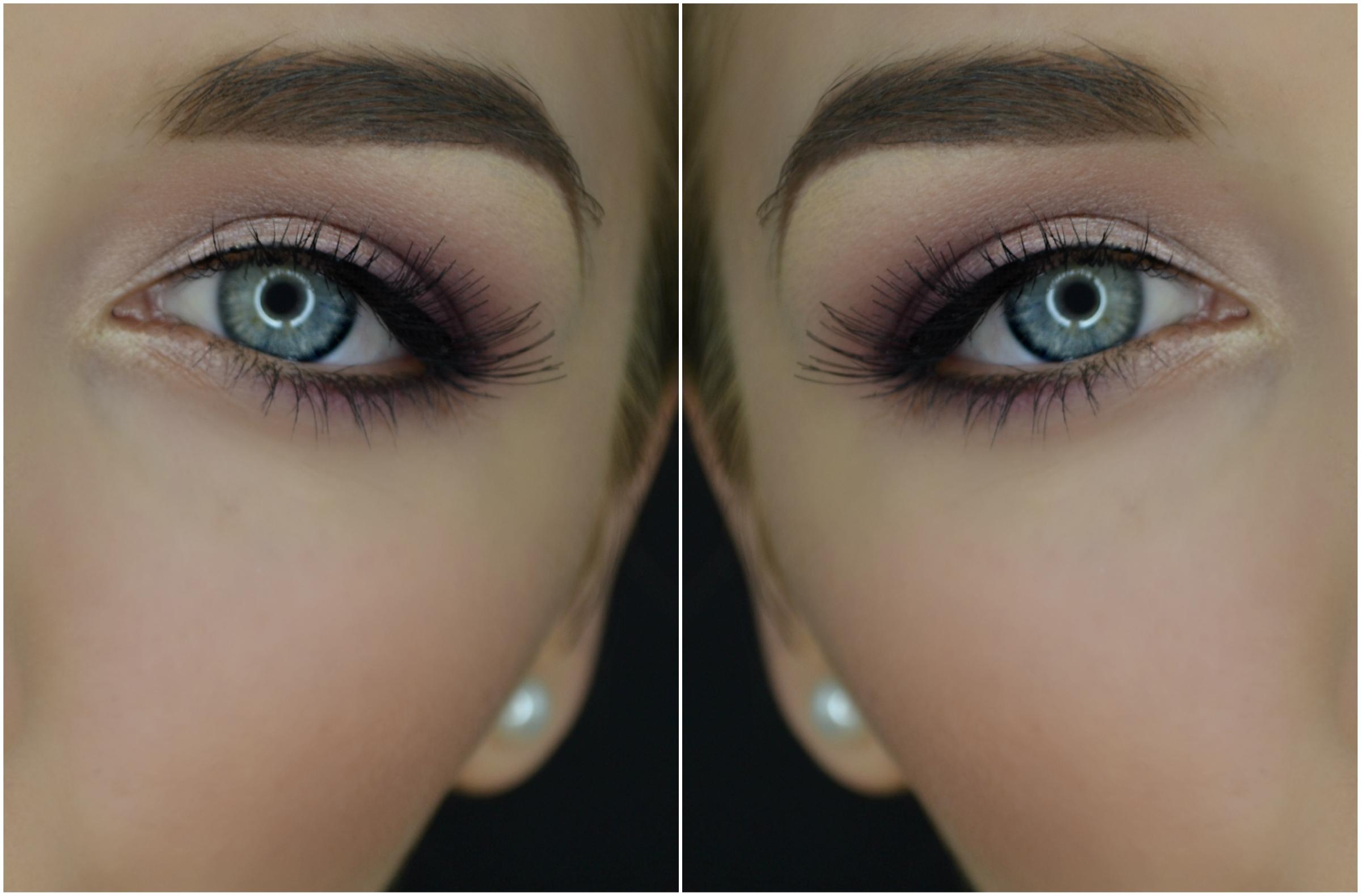 Collage trucco sposa occhi