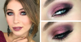 Smoky Eyes Bordeaux – Makeup Tutorial