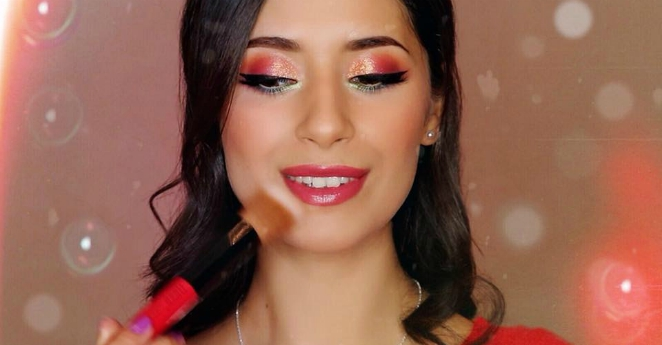 Glossy Artist Brushes + Colourful Makeup Tutorial